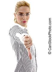 側視圖, ......的, 從事工商業的女性, 由于, 反對