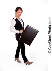側視圖, ......的, 從事工商業的女性, 藏品 袋子
