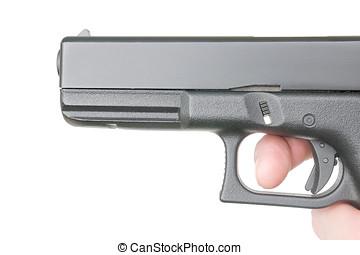 側視圖, ......的, 手槍