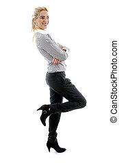側視圖, ......的, 矯柔造作, 從事工商業的女性