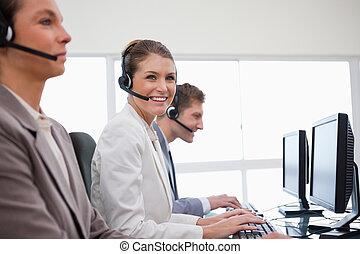 側視圖, ......的, 顧客服務, 辦公室