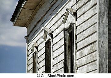 側, 細部, の, 捨てられた, 田園, 教会