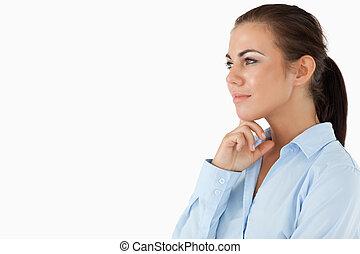 側, 考え, 光景, 女性実業家