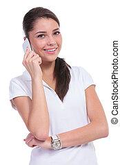 偶然, 電話の上の女性