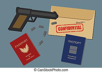 偽造品, パスポート