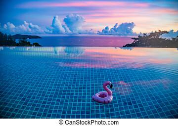 傍晚, 別墅, phuket, 見解, 泰國