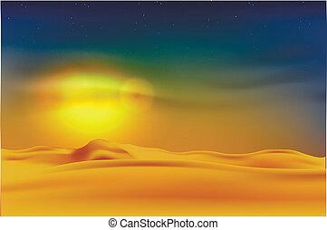 傍晚, 沙漠