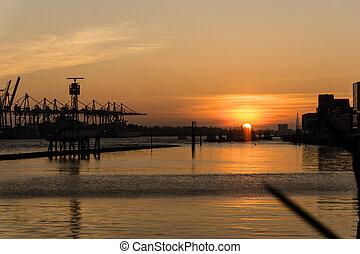 傍晚, dockland