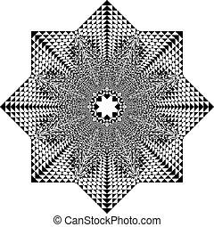 傘, アラベスク, tridimensional, pseudo, 錯覚, 漁師, 背景, 透明