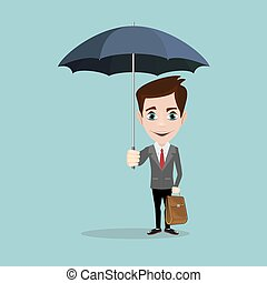 傘, ビジネス男