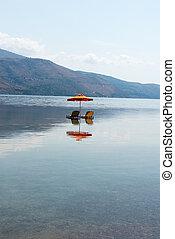 傘, 位置, kefalonia, ギリシャ, 3