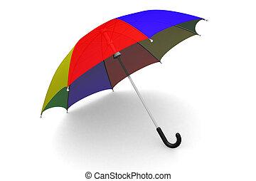 傘, 在地上