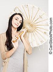 傘, 女, 古い