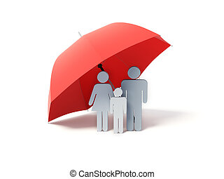 傘, 家族, 下に