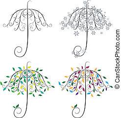 傘, 形, 木