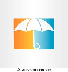 傘, 抽象的なデザイン, アイコン