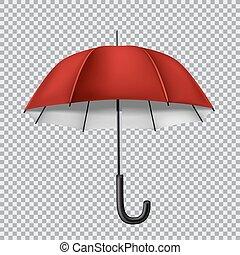 傘, 透明, 背景, 赤