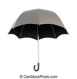 傘, 黒, 開いた