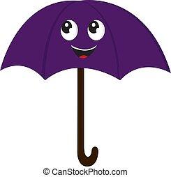 傘, illustration., 色, ベクトル, ∥あるいは∥, 幸せ