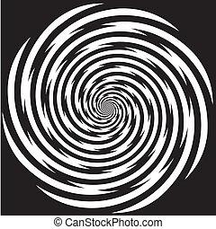 催眠状態, デザイン, らせん状のパターン