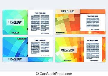 傳單, poster., 鮮艷, 事務, 摘要, 布局, polygonal, 覆蓋, 矢量, 設計, 飛行物, 小冊子, template., 背景