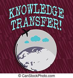 傳播, 或者, 分享, transfer., 知識, 鮮艷, 正文, 全球, 飛行, space., 簽署, 移動, 經驗, 空白, 概念性, 飛機, 圖象, 顯示, 相片, 大約