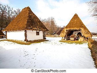 傳統, 家, 羅馬尼亞,  transylvania