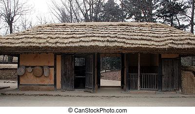 傳統, 建築物, 韓國語