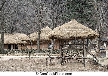 傳統, 房子, 在, 朝鮮