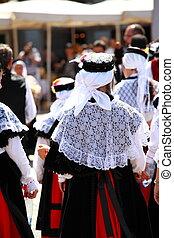 傳統, 西班牙語, 衣服, 在, 馬德里