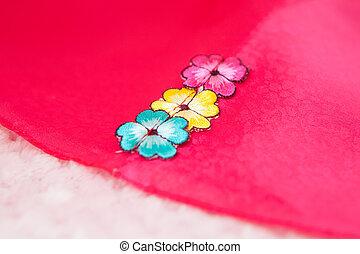 傳統, 韓國語, 女孩, 服裝