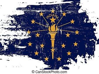 傷付けられる, インディアナの旗