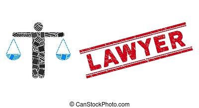傷付けられる, モザイク, watermark, 弁護士, 重量, ライン