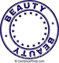 傷付けられる, 美しさ, 切手, textured, シール, ラウンド