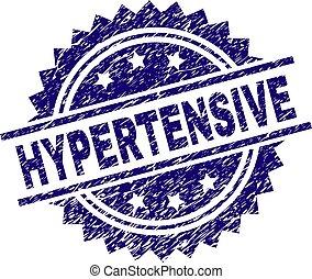 傷付けられる, hypertensive, textured, 切手, シール