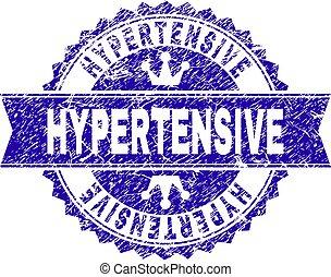 傷付けられる, hypertensive, textured, 切手, シール, リボン