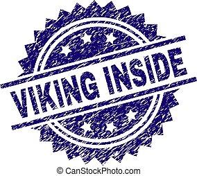 傷付けられる, viking, 切手, 中, シール, textured