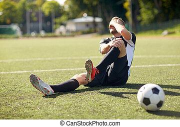 傷害, 球 球員, 足球場, 足球