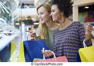 傾慕, 購物, 在上方, 購物中心, 櫥窗陳設