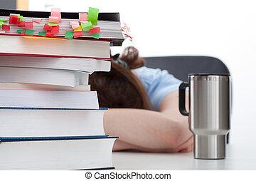 働きすぎる, コーヒー, 学生