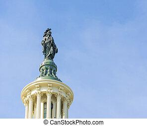 像, の上, 国会議事堂の 建物, washington d.c.