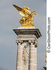像, パリ, アレキサンダー, 馬, -, 飛ぶ, 金, 橋, iii