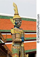像, 宮殿, 保護者, phra, kaew, 壮大, ワット, バンコク, thailand.