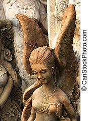 像, thailand., 仏教, 天使