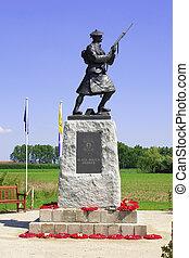 像, ww1, highlanders, フィールド, ベルギー, 皇族, フランダース, 兵士