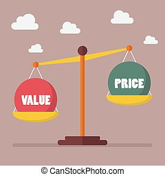 價值, 以及, 價格, 平衡, 上, the, 規模