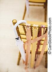 儀式, 椅子, 傘, 婚禮