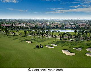 儀礼飛行, コース, 航空写真, フロリダ, ゴルフ