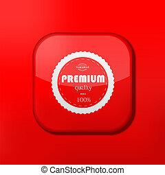 優れた, 編集, eps10., ベクトル, 容易である, icon., 品質, 赤
