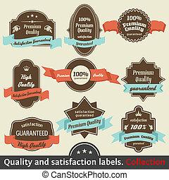 優れた, vol., 型, ラベル, 満足, 2, collection., 品質, 保証